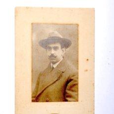 Fotografía antigua: ANTIGUA FOTOGRAFIA SEÑOR FOTOGRAFO J.YANGUAS ZARAGOZA. Lote 53618306