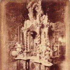 Fotografía antigua: EL SANTO SANTORUM EN EL INTERIOR DE LA CARTUJA - GRANADA - GARZON. Lote 236758170
