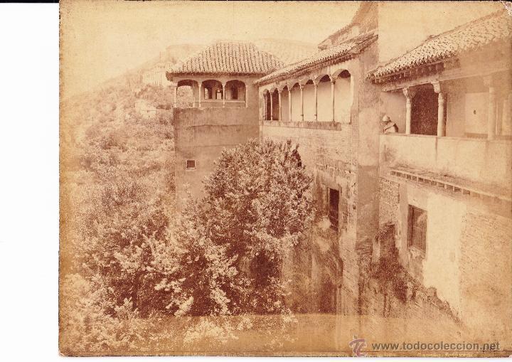 ALHAMBRA - GRANADA - GARZON (Fotografía Antigua - Albúmina)