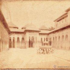Fotografía antigua: ALHAMBRA - VISTA GERAL DEL PATIO DE LOS LEONES - GRANADA - GARZON. Lote 53640005