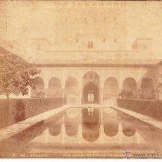 Fotografía antigua: ALHAMBRA - VISTA GENERAL DEL PATIO DE LOS ARRAYANES - GRANADA - GARZON. Lote 53640017