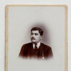 Fotografía antigua: DON REMIGIO GÓMEZ. SEVILLA 1913. TALLERES DE FOTOGRAFÍA RICARDO SANZ. 11 X 16,5 CM. Lote 53709746