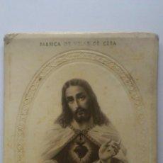 Fotografía antigua: SAGRADO CORAZON DE JESUS, PUBLICIDAD EDELMIRO REVERT, ALBAIDA - VALENCIA. Lote 53786565