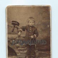 Fotografía antigua: RETRATO. NIÑO. J. LÓPEZ . CENTRO FOTOGRÁFICO VILLAR. MURCIA. NR. Lote 53949309