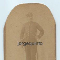 Fotografía antigua: RETRATO. MILITAR. J. LÓPEZ . CENTRO FOTOGRÁFICO VILLAR. MURCIA.. Lote 53949455