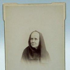 Fotografía antigua: FOTOGRAFÍA ALBÚMINA BUSTO ANCIANA S XIX COMPAÑY FOTÓGRAFO . Lote 54030278