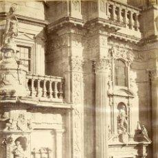 Fotografía antigua: MURCIA LAURENT 954 DETALLE DE LA FACHADA DE LA CATEDRAL. Lote 54282399