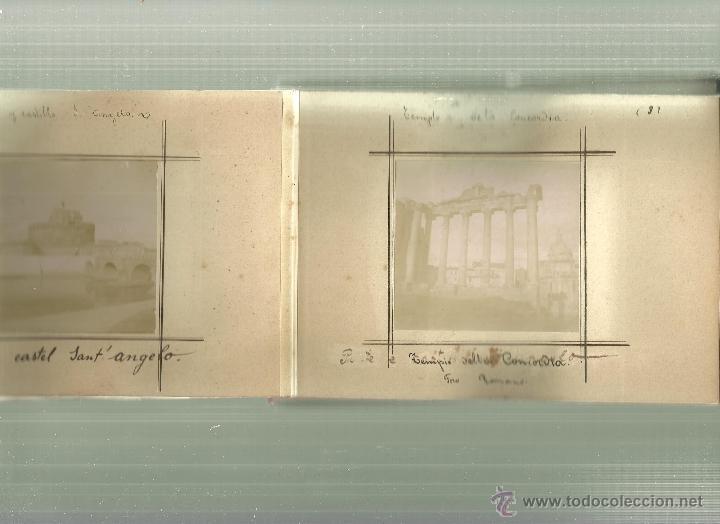 Fotografía antigua: 3691.- ALBUM DE FOTOGRAFIAS ALBUMINAS CON VISTA DE ROMA-ITALIA- - Foto 3 - 54323562
