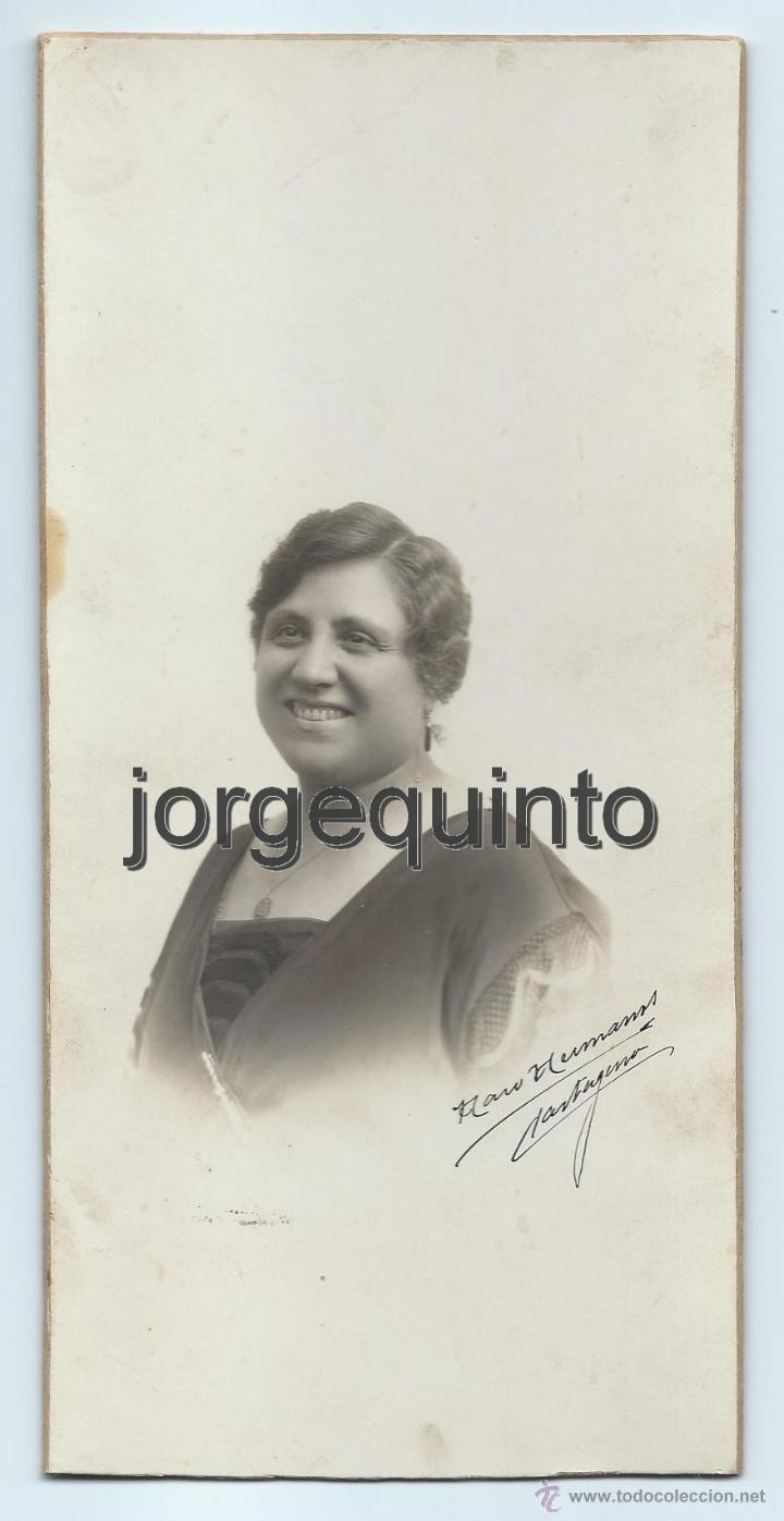 RETRATO FEMENINO. HARO HERMANOS. CARTAGENA, MURCIA. (Fotografía Antigua - Albúmina)