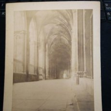 Fotografía antigua: FOTO ANTIGUA ALBUMINA DE BARCELONA AÑO 1890 PATIO CLAUSTRO CATEDRAL DIFICILISIMA. Lote 54331111