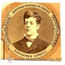 Fotografía antigua: MADRID 1880-1881 FACULTAD MEDICINA SATURNINO CHUECA HECHAIDE - ZARAGOZA RETAL ORLA. Lote 54339986