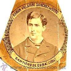 Fotografía antigua: MADRID 1880-1881 FACULTAD MEDICINA RAMON VILLAFAÑE SANCHEZ DE SOT -CUBA RETAL ORLA. Lote 54340474