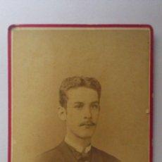 Fotografía antigua: ANTIGUA FOTOGRAFIA, JOVEN POSANDO, AÑO 1882, FOTOGRAFO J.A. SUAREZ Y Cª - HABANA. Lote 54395614
