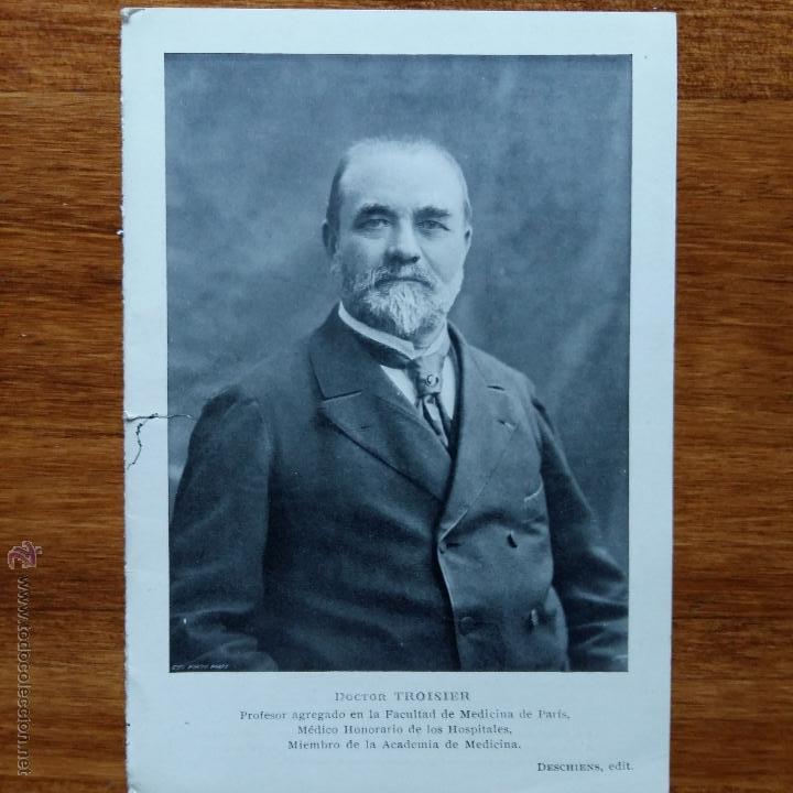 ANTIGUA FOTO POSTAL. DOCTOR TROISER PROFESOR AGREGADO EN LA FACULTAD DE MEDICINA DE PARIS (Fotografía Antigua - Albúmina)