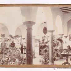 Fotografía antigua: INTERIOR DE UN PATIO PARTICULAR, 1900'S. ANDLUCÍA, RONDA O UTRERA PROBABLEMENTE,14X18,5 CM.. Lote 54458904