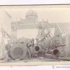 Fotografía antigua: UTRERA, PROV. DE SEVILLA, 1900'S. APROX. OBRAS DETRÁS DE LA IGLESIA, 14X19CM. . Lote 54459128