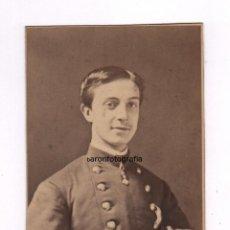 Fotografía antigua: RETRATO DE ALFONSO XII NIÑO, 1871 APROX. FOTO DE MOLINÉ Y ALBAREDA, BARCELONA. 10 X 13,5 CM. RARA. Lote 54474923