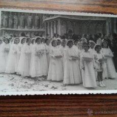 Fotografía antigua: TARRAGONA - FOTOGRAFIA CORPUS - SALIDA CATEDRAL NIÑAS PRIMERA COMUNION. Lote 54521484