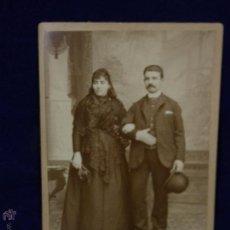 Fotografía antigua: FOTO ANTIGUA HOMBRE MUJER LUTO FFS S XIX A. NIETO FOTOGRAFO MADRID 16,5X10,8CMS. Lote 54572840
