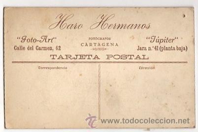 Fotografía antigua: TARJETA POSTAL FOTOGRAFICA CON ESCENA INFANTIL. HARO HERMANOS. CARTAGENA. MURCIA. CIRCA 1920 - Foto 2 - 54691181