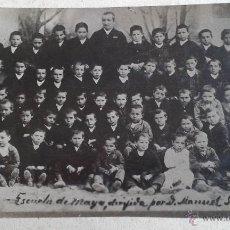 Fotografía antigua: ANTIGUA FOTOGRAFIA DE ESCOLARES DE LA ESCUELA DE MAYA EN NAVARRA DEL AÑO 1886. Lote 54631926