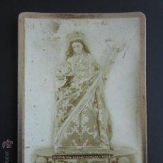 Fotografía antigua: FOTOGRAFÍA VIRGEN MARTIR SANTA EULALIA PATRONA DE MÉRIDA, BADAJOZ. 11 X 16.5 CM. Lote 54637312