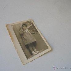 Fotografía antigua: ANTIGUA FOTOGRAFÍA:-8.5 X 6 CM.-FOTOS, F. JEREZ-ALICANTE-1945. Lote 54643664
