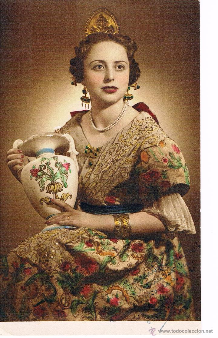 VALENCIA. FALLERA AÑO 1953. (Fotografía Antigua - Albúmina)