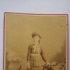 Fotografía antigua: ANTIGUA FOTOGRAFIA, SEÑORITA CARMEN GOMEZ LOBO Y SAGARRA, FOTOGRAFO J.A.SUAREZ Y COMPAÑIA - HABANA. Lote 54909264