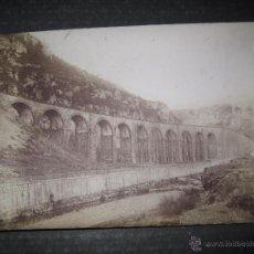 Fotografía antigua: FIGARO - VIADUCTO LINEA SAN JOAN ABADESSES - MIDE 11 X 15 CM. -VER FOTOS-(V-4712). Lote 54950110