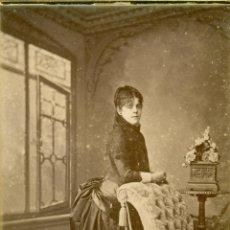 Fotografía antigua - MADRID. LOTE DE DOS FOTOS DE UNA DAMA. HACIA 1890. FOTO J. MON. TIPO CABINET. - 54952226