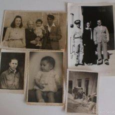 Fotografía antigua: LOTE DE 5 FOTOS ANTIGUOS. Lote 55100991