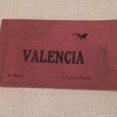 Fotografía antigua: ÁLBUM DE 20 POSTALES DE VALENCIA COLOREADAS. Lote 55137861