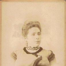 Fotografía antigua: FOTO CABINET. RETRATO DE SEÑORA DE GRAN BUSTO.CA.1890. FOTÓGRAFO: ORRIT. MANRESA. Lote 55150692