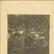 Fotografía antigua: MUJER EN JARDÍN. Lote 55362245