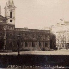 Fotografía antigua: J.E.PUIG Nº306 CÁDIZ PLAZA DE SAN ANTONIO.. Lote 55654305