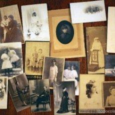 Fotografía antigua: LOTE DE 20 ALBÚMINAS, FOTÓGRAFOS BARCELONESES, 1900-1920. Lote 55715120