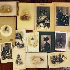 Fotografía antigua: LOTE DE 20 ALBÚMINAS, FOTÓGRAFOS BARCELONESES, 1900-1920. Lote 55715213