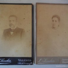 Fotografía antigua: FOTO. LOTE DE DOS FOTOS. SANCHEZ, VALENCIA. ANTIGUAS. Lote 55935527