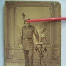 Fotografía antigua: SOLDADO DE 1ª DE LA MILICIA NACIONAL DE GRANADA , BOMBERO ZAPADOR, SIGLO XIX. DE G.AYOLA, GRANADA. Lote 56077539