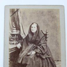 Fotografía antigua: F-1874. FOTOGRAFIA DE ESTUDIO DE UNA DAMA. FINAL SIGLO XIX. ANTONIO Y EMILIO DITS NAPOLEON.. Lote 56151164