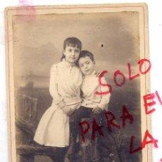 Fotografía antigua: FOTO AMIS UNAL -GERONA RETRATO HERMANOS TAMAÑO IMPERIAL SIN REVERSO. Lote 56186301