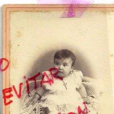 Fotografía antigua: FOTO AMIS UNAL -GERONA RETRATO NIÑA TAMAÑO IMPERIAL SIN REVERSO. Lote 56186466