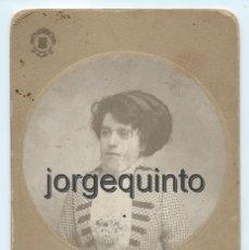 Fotografía antigua: RETRATO FEMENINO. HARO HERMANOS. CARTAGENA, MURCIA. 1911. 10,8 X 16,4 CMS.. Lote 56205737