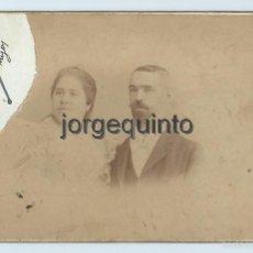 Fotografía antigua: RETRATO. PAREJA. FOTÓGRAFO JOSÉ VTE. OLIVARES. MAYOR 11, CARTAGENA, MURCIA.. Lote 56205992