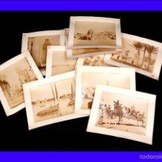 Fotografía antigua: FANTÁSTICA COLECCIÓN DE 10 FOTOGRAFÍAS ANTIGUA A LA ALBÚMINA DE LOS HNOS. ZANGAKI. EGIPTO, 1890. Lote 56256846