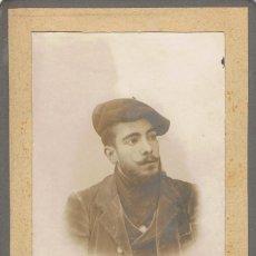 Fotografía antigua: FOTO CABINET RETRATO DE ENRIQUE BORRÁS.CA.1900. FOTÓGRAFO: TOMAS ANGUERA. REUS. Lote 56316851