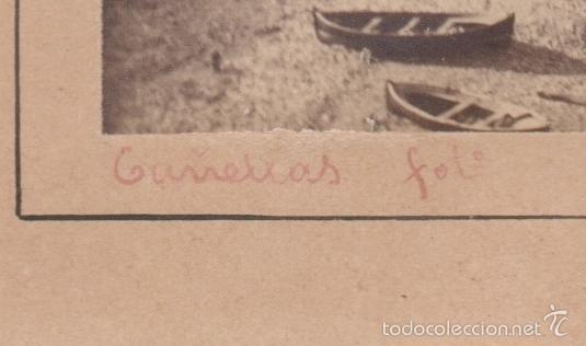 Fotografía antigua: PLAYA DE PORTBOU, FOTOGRAFÍA: Josep Mª Cañellas, Paris. tamaño soporte: 16 x 22,5 cm. - Foto 2 - 56337904
