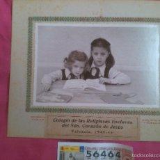 Fotografía antigua: VALENCIA. FOTO COLEGIAL. ESCLAVAS DEL SAGRADO CORAZÓN 1945. Lote 56370465