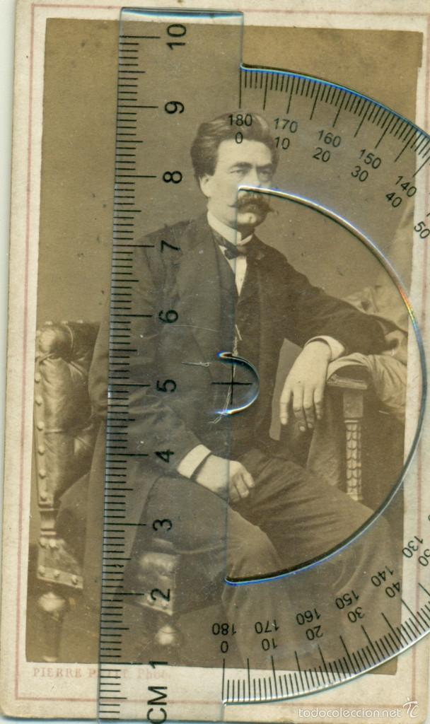 PUEDE SER EL FILOSOFO FRIEDRICH NIETZSCHE.BIBLIOTÈQUE HARMANT. HACIA 1870. (Fotografía Antigua - Albúmina)